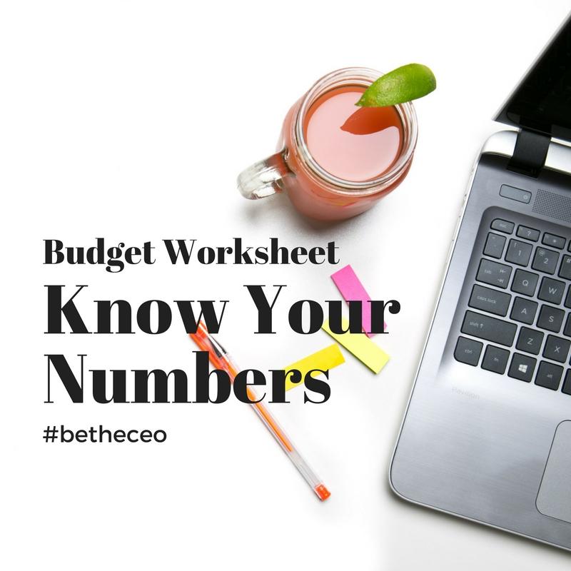 Budget Worksheet Pdf Business Juice
